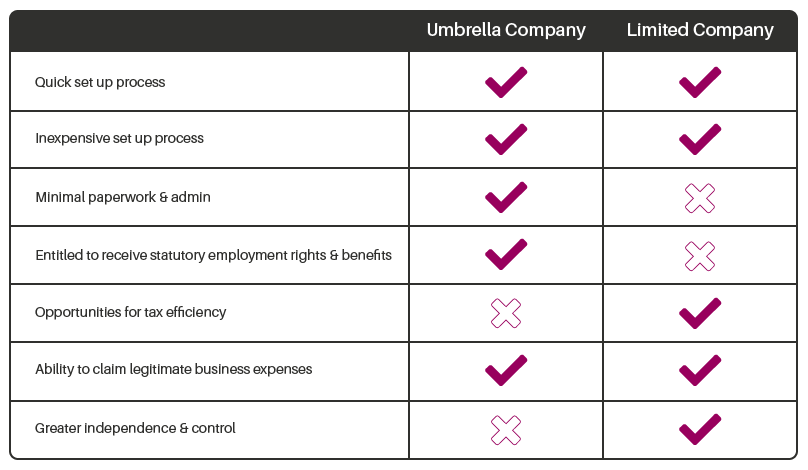 Umbrella Vs Limited Company - Umbrella Exchange